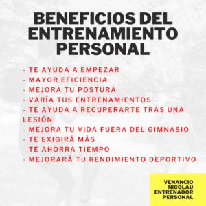 beneficios de entrenamiento personal