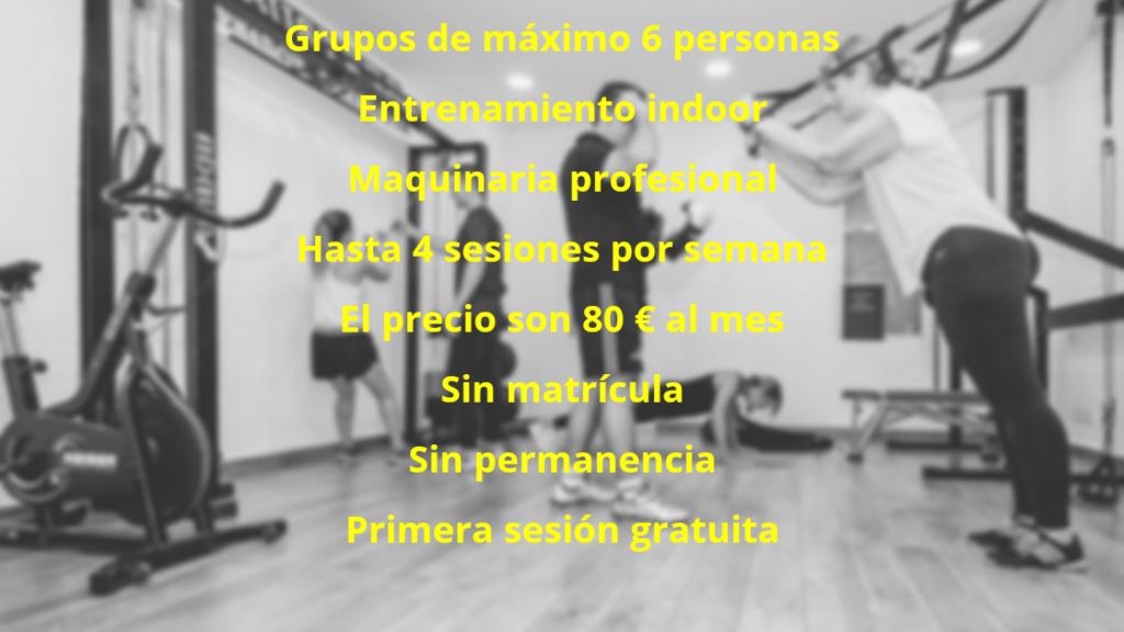 Grupos de entrenamiento Palma de Mallorca Precios
